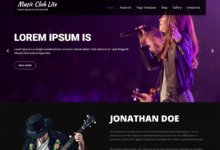 Music Club Lite Müzik Wordpress Teması