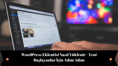Wordpress eklentisi nasıl yüklenir