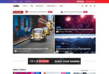 ultra lite ücretsiz blog teması